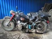 Продаю раритет мотоцикл М72 с коляской 1955 г.в., КМЗ, цвет черный,