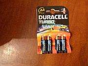 Батарейки Duracell,  GP