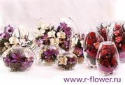 Живые цветы в вакууме оптом