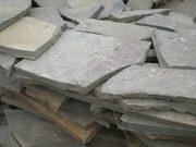 Камень пластушка песчаник серо-зеленый натуральный