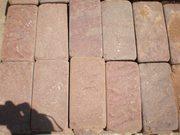 Натуральный камень песчаник красный пиленый + галтованный (плитка)