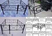 Ограды,  столы,  лавочки с установкой
